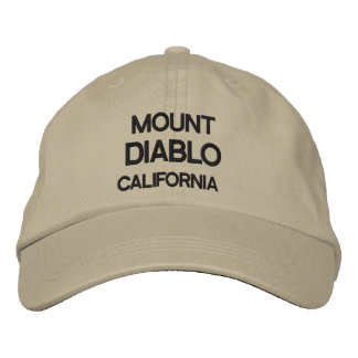 Mount Diablo Personalized Adjustable Hat Embroidered Baseball Caps