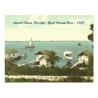 Mount Dora, Fl - Boat House Row - 1907 Postcard