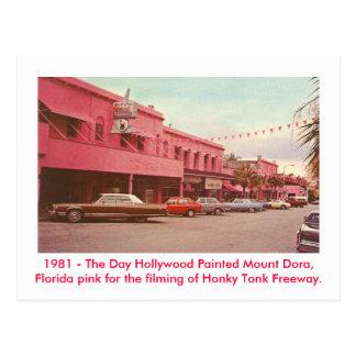 Mount Dora, Fl - Painted Pink Postcard