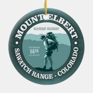 Mount Elbert Christmas Ornament