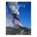 Mount Etna - volcanic eruption Postcard