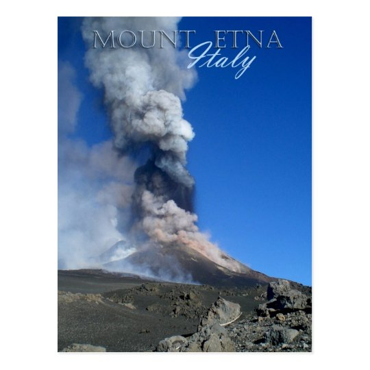 Mount Etna - volcanic eruption Postcard