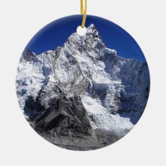 Mount Everest 2 Round Ceramic Decoration
