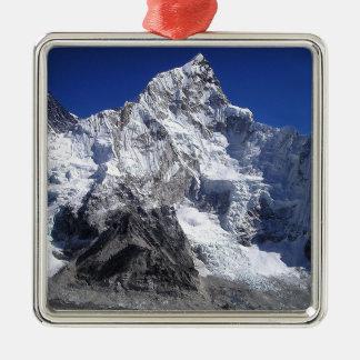 Mount Everest 2 Silver-Colored Square Decoration