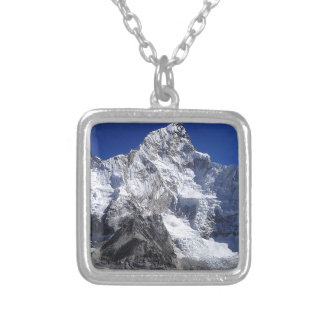 Mount Everest 2 Silver Plated Necklace