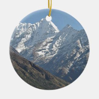 Mount Everest 3 Round Ceramic Decoration