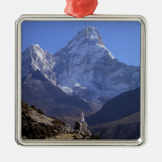 Mount Everest 4 Silver-Colored Square Decoration