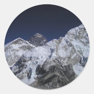 Mount Everest 5 Classic Round Sticker