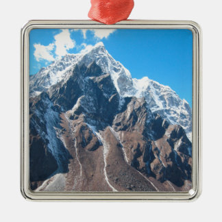 Mount Everest 7 Silver-Colored Square Decoration