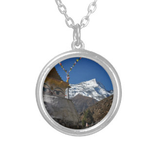 Mount Everest 8 Silver Plated Necklace