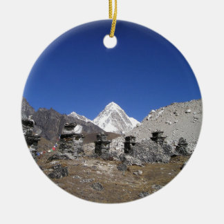 Mount Everest 9 Round Ceramic Decoration