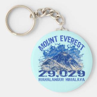 Mount Everest Basic Round Button Key Ring