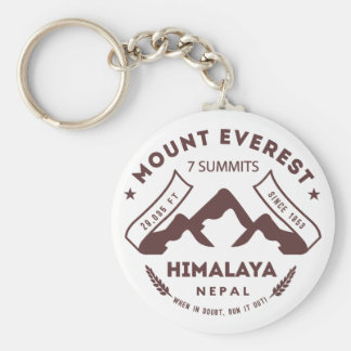 Mount Everest Nepal Key Ring