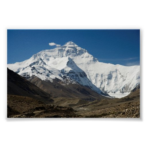 Mount Everest North Face Poster