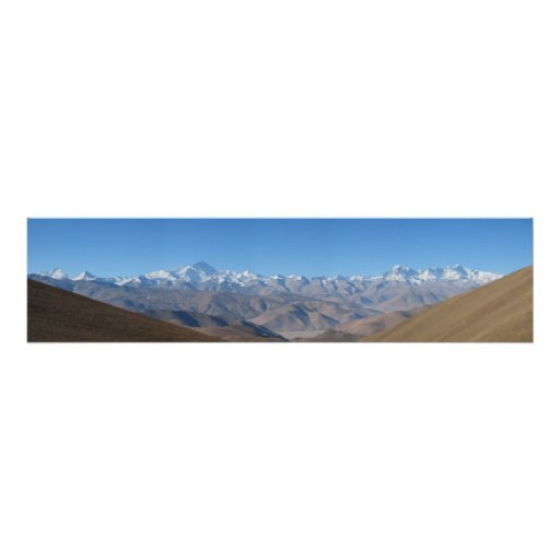 Mount Everest Panorama Huge High Resolution Poster