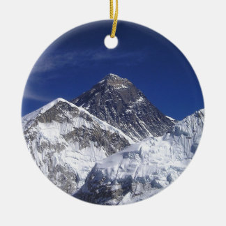 Mount Everest Photo Round Ceramic Decoration