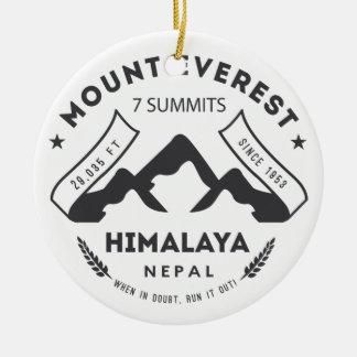 Mount Everest Round Ceramic Decoration