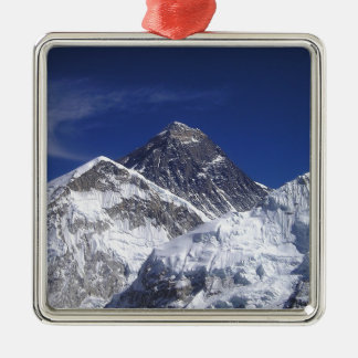 Mount Everest Silver-Colored Square Decoration