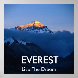 Mount Everest Sunset Poster