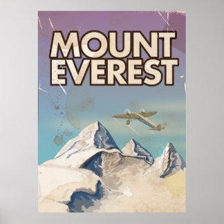 Mount Everest Vintage Travel poster