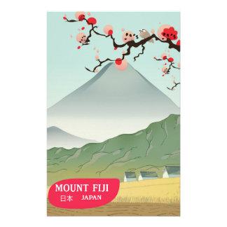 mount fiji Japan vintage travel print Stationery Design