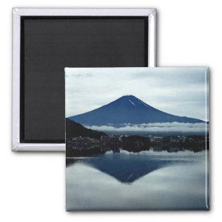 Mount Fugi Japan 2 Inch Square Magnet