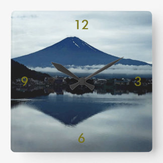 Mount Fugi Japan Square Wall Clock