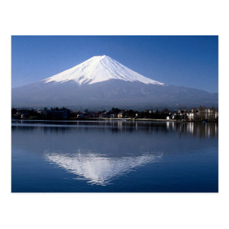 Mount Fuji and reflection in Lake Kawaguchi, Japan Postcard