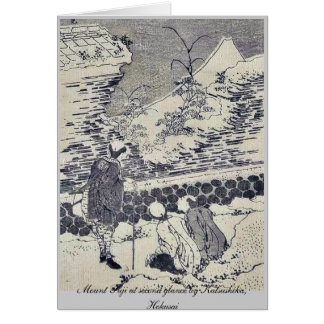 Mount Fuji at second glance by Katsushika, Hokusai Greeting Card
