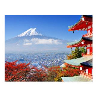 Mount Fuji In Japan Postcard