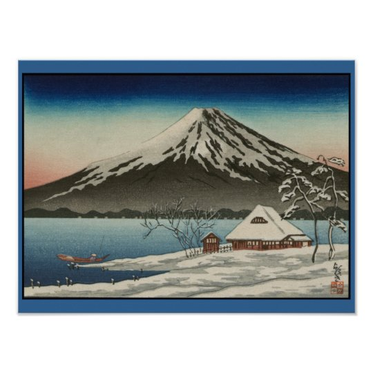 Mount Fuji in Winter Print