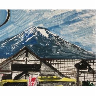 Mount Fuji Japan 3D Photo Silhouette Standing Photo Sculpture