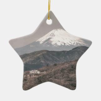 Mount Fuji, Japan Ceramic Star Decoration