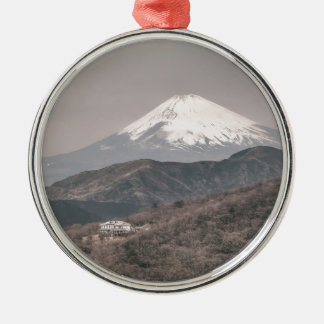 Mount Fuji, Japan Silver-Colored Round Decoration