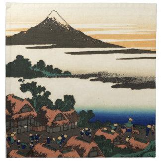 Mount Fuji Japan Sunset Cloth Napkin