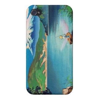 Mount Fuji Japanese Woodblock - Beautiful iPhone 4 Case