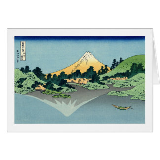 Mount Fuji Reflected in Lake Kawaguchi Note Card