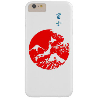 Mount Fuji Retro Case. Red Japanese Print Barely There iPhone 6 Plus Case