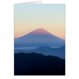 Mount Fuji Silhouettes Card