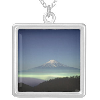 Mount Fuji Silver Plated Necklace