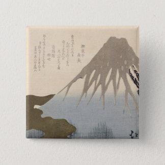 Mount Fuji Under the Snow 15 Cm Square Badge
