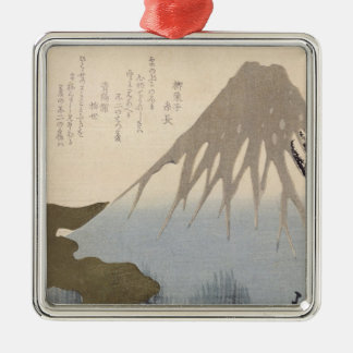 Mount Fuji Under the Snow Christmas Ornament