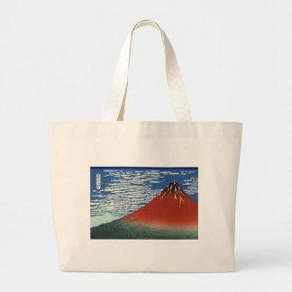 Mount Fuji Volcano Japan Painting Large Tote Bag