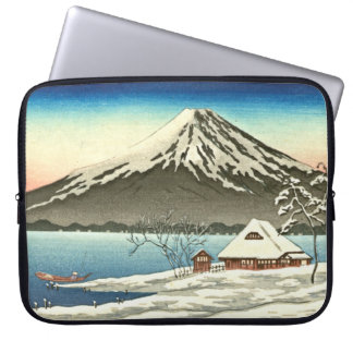 Mount Fuji Winter 1890 Laptop Computer Sleeve