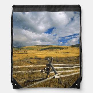 Mount Haggin NWR near Anaconda Montana Drawstring Bag