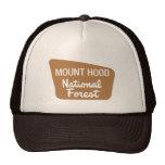 Mount Hood National Forest (Sign) Mesh Hats