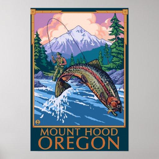 Mount Hood, OregonFisherman Scene Posters