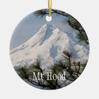 Mount Hood Photo Single-Sided Ornament