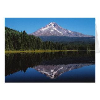 Mount Hood Reflected in Lake Card