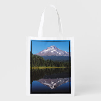 Mount Hood Reflected in Lake Reusable Grocery Bag